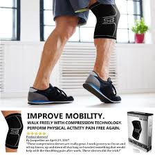Leg Pain Going Down Stairs by Amazon Com Sb Sox Compression Knee Brace For Knee Pain Braces