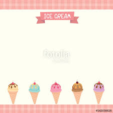 vector of cute ice cream cone menu template decorated with tartan