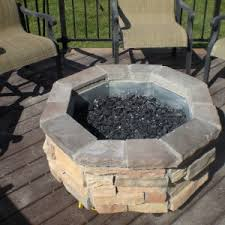 fireplace outdoor natural gas hexagon for firepits with wooden