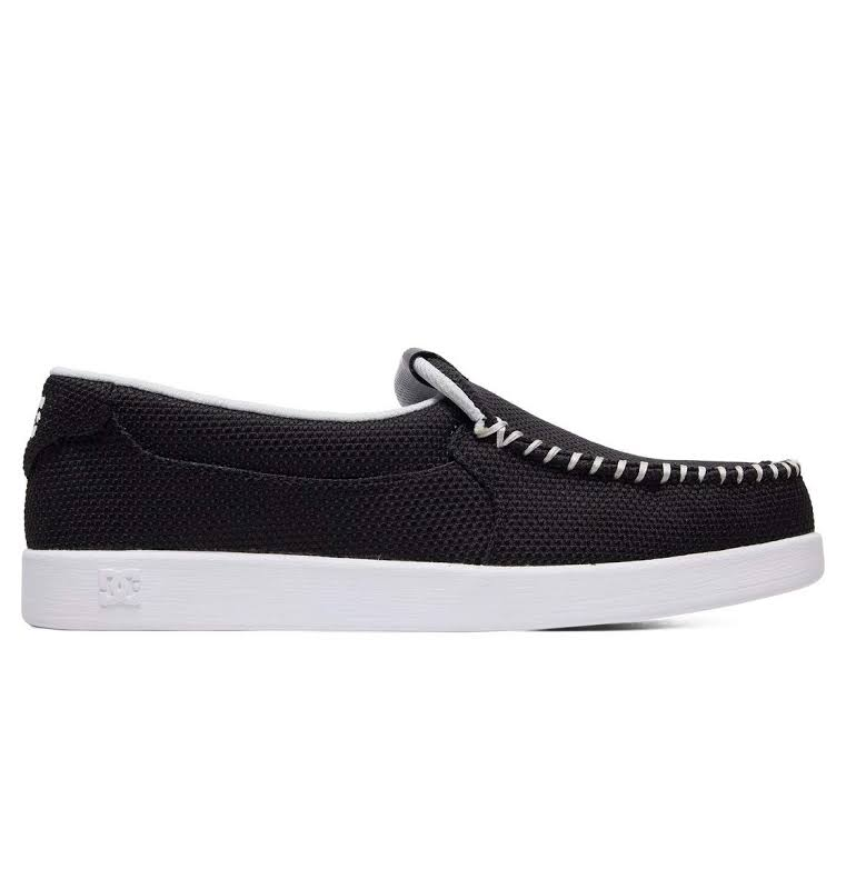 DC Villain TX SE ADYS100200 Black Canvas Slip On Athletic Skate Shoes
