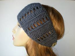 crochet hair bands pattern lattice wrap ear warmer band hair band