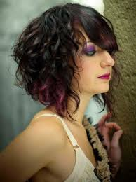 asymmetrical curly bob hairstyle ideas popular long hairstyle idea