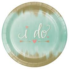 bridal shower plate 8ct mint to be bridal shower banquet plates target