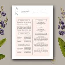 Resume Design Templates Word Modern Resume Template Cover Letter Template For By Caferesume