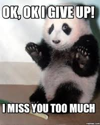 I Give Up Meme - 20 cutest i miss you memes of all time sayingimages com