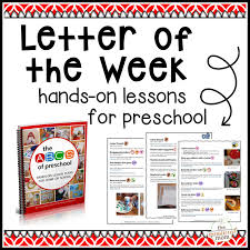 letter of the week curriculum measured mom weekly lesson plans for