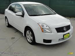 white nissan sentra 2007 nissan sentra 2 0 s in fresh powder white 683706 autos of
