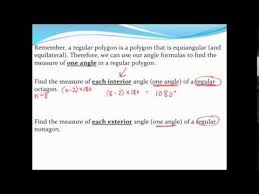 What Is The Sum Of Interior Angles Of A Octagon Finding The Measure Of One Interior Angle And One Exterior Angle