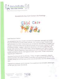 Day Care Teacher Job Description For Resume by Employment Opportunities Indiana Aeyc Indiana Aeyc