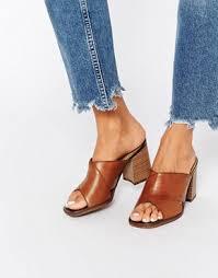 Mule Sandals Weekend Vagabond Lea Tan Leather Heeled Mule Sandals