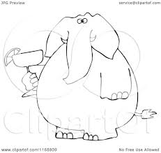 margarita clipart border cartoon of a black and white elephant holding a margarita