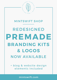 mintswift shop redesigned premade branding kits u0026 logos now
