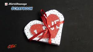 tutorial scrapbook card easy scrapbook greeting card tutorial valentine s day jk arts