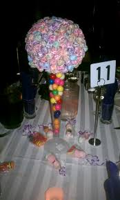 Candy Themed Centerpieces by Sweet 15 Centerpiece Very Sweet Centerpieces Party Pinterest