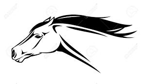 ferrari horse outline running horse vector