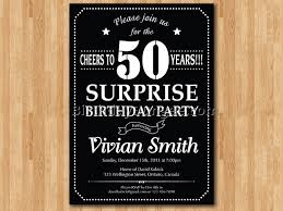 50th surprise birthday invitations gallery invitation design ideas