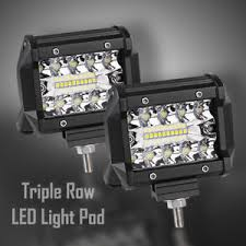 led security light bar led light pod 4inch 200w triple row work light bar flood spot combo