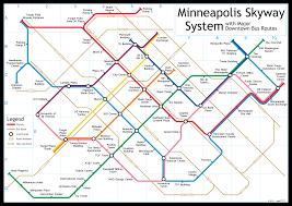 Minneapolis Metro Transit Map by Skyway Map Minneapolis My Blog