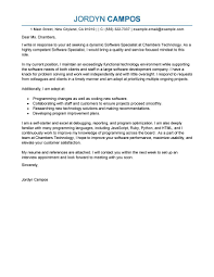 Examples Of Cover Letters For Resume by Best Software Specialist Cover Letter Examples Livecareer