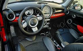 2010 Mini Cooper Interior Mini Cooper S T8e1 Leather Punch Carbon Black Interior 0205