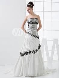 milanoo brautkleider a linie brautkleid aus satin mit pailletten in weiß gowns