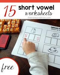 free short vowel worksheets stamp u0026 spell alphabet stamps