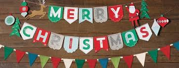 merry christmas banner christmas garland archives paper source paper source
