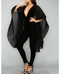 black jumpsuit sleeve black velvet jumpsuit black jumpsuit with cape sleeves