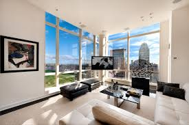 apartments gorgeous white manhattan penthouse apartement design