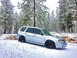 subaru forester lowered silver or crystal gray forester with tailgate garnish and side