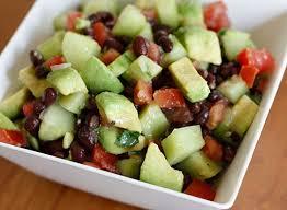 black bean avocado cucumber and tomato salad skinnytaste