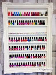 nail polish rack display cabinet french shabby chic classic
