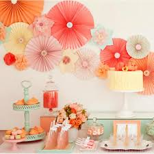 cheap party supplies tissue paper fan personalized wedding favors and gifts event