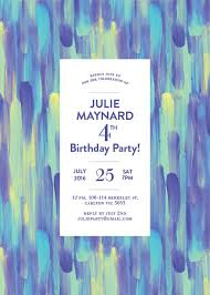 4th birthday invitations designs by creatives printed by paperlust