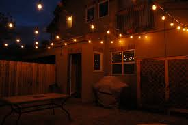 Outside Patio String Lights Solar Outdoor Patio Lights Home Design Ideas And Pictures