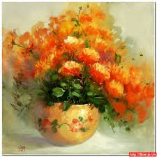 Flowers In Vases Pictures Acrylic Paintings Of Flowers In Vases 3 Paintings Pictures Free