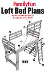 Free Plans For Bunk Beds With Desk by Double Loft Bed Plans Ainsley U0027s Room Pinterest Double Loft
