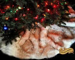 faux fur tree skirt faux fur tree skirt etsy