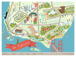san francisco map of usa 21 gorgeous illustrated maps of san francisco upout