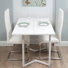 Popular Of White Folding Dining Table With Furniture Fascinating - Foldable kitchen table