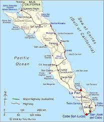 map cabo mexico clickable interactive map of baja california sur state mexico