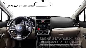 subaru touring interior 2016 subaru impreza 2 0i sport limited youtube