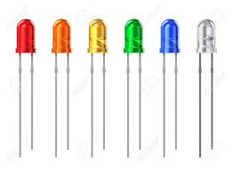 White Background Set Of Color 3 Mm Led Diodes Isolated On White Background Stock
