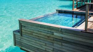 four seasons bora bora luxury overwater bungalow with plunge pool
