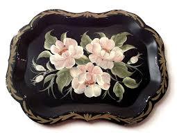painted serving platters 170 best tole papier mâché and painted pieces images on