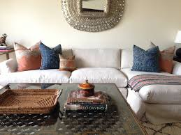 Living Room Pillows by Currently Loving Hmong Indigo Batik Pillows K Sarah Designs