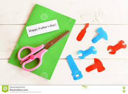 paper tools scissors set for greeting card father u0027s day happy