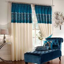 Peacock Curtains Modern Peacock Curtain With Blue And Beige To Window At Your