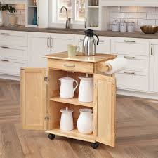 Kitchen Island And Carts Home Styles Solid Wood Kitchen Cart Natural Walmart Com
