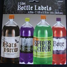 halloween bottle lables 4 x halloween bottle labels 2 litre bottle spooky drinks labels